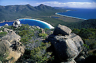 Wineglass Bay.view from Mt.Amos .Freycinet Natl. Park.Tasmania.Australia