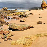 Aireys Inlet Beach on Great Ocean Road, Australia<br />
