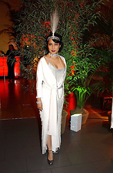 PATTI WONG at Andy & Patti Wong's Chinese New Year party to celebrate the year of the Rooster held at the Great Eastern Hotel, Liverpool Street, London on 29th January 2005.  Guests were invited to dress in 1920's Shanghai fashion.<br />