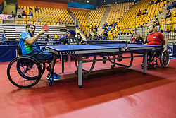COPOLA Gabriel of Argentina and BRUCHL Thomas of Germany during SPINT 2018 Table Tennis world championship for the Disabled, Day One, on October 17th, 2018, in Dvorana Zlatorog, Celje, Slovenia. . Photo by Grega Valancic / Sportida