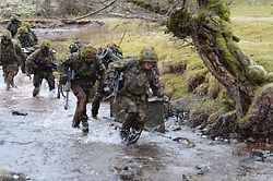 A soldier has died while training in Brecon, south Wales<br /> <br /> PSBC is a promotion qualifying-course, to Sergeant, for Rifle Company Platoon Sergeants. The course is run in January, April and August each year. The course is broken down into 2 independent phases: Tactics and Live Firing Tactical Training (LFTT).<br /> <br /> The Tactics phase of the course is 7 weeks long, and delivered by the Senior Division Instructors. The course is split into platoons with Colour Sergeant Instructors with each section. An Infantry Captain will oversee the platoon's training.<br /> <br /> The LFTT phase is 5 weeks long and run by the Infantry Weapons' Division. On successful completion, the students will be qualified to plan and conduct demanding and realistic live fire range packages.<br /> <br /> On overall completion of the course the student is eligible to promote and become a Platoon Sergeant. Completion is also a pre-requisite for all candidates attending the RMAS Instructors' Cadre.<br /> <br /> PSBC is both mentally and physically demanding - but students receive the highest level of tuition and testing to ensure that they are fully prepared for the rigors of command.