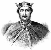 Richard I, Coeur de Lion, (1157-1199)  son of Henry II and Eleanor of Aquitaine, reigned as King of England (1189-1199). Second of the Angevin (Plantagenet) kings of England. Wood engraving c1880.