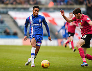 Gillingham forward Dominic Samuel in action during the Sky Bet League 1 match between Gillingham and Peterborough United at the MEMS Priestfield Stadium, Gillingham, England on 23 January 2016. Photo by David Charbit.