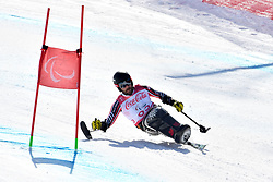 OATWAY Kurt LW12-1 CAN competing in ParaSkiAlpin, Para Alpine Skiing, Super G at PyeongChang2018 Winter Paralympic Games, South Korea.