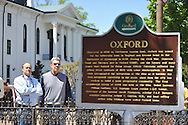 A new marker was unveiled outside City Hall on Thursday, April 25, 2013 in Oxford, Miss.