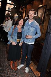 GAIL COHEN and AL MacCUISH at a reception hosted by Ralph Lauren Double RL and Dexter Fletcher before a private screening of Wild Bill benefitting FilmAid held at RRL 16 Mount Street, London on 26th March 2012.