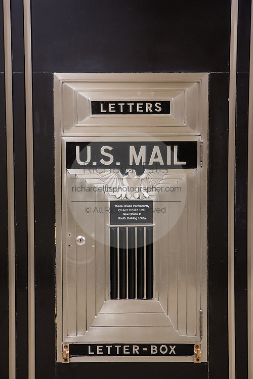 Art deco mail box inside the Chicago Board of Trade building Chicago, IL.