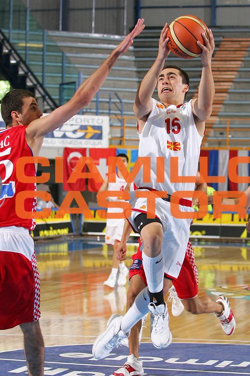 DESCRIZIONE : Gorizia U20 European Championship Men Preliminary Round Fyrom Croatia <br /> GIOCATORE : Nedelkovski <br /> SQUADRA : Fyrom <br /> EVENTO : Gorizia U20 European Championship Men Preliminary Round Fyrom Croatia Campionato Europeo Maschile Under 20 Preliminari Fyrom Croazia <br /> GARA : Fyrom Croatia <br /> DATA : 08/07/2007 <br /> CATEGORIA : Tiro <br /> SPORT : Pallacanestro <br /> AUTORE : Agenzia Ciamillo-Castoria/S.Silvestri <br /> Galleria : Europeo Under 20 <br /> Fotonotizia : Gorizia U20 European Championship Men Preliminary Round Fyrom Croatia <br /> Predefinita :