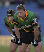 02/03/2003.Sport - 2003 Powergen Cup Semi- final - London Irish v Northampton Saints.Nick Beal right and .