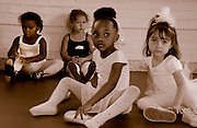 staff photo by Phil Grout..These future ballerinas and tap dance stars attended the grand opening.pre-ballet and tap class at the new Carroll County Dance Center Saturday.on the grounds of Springfield State Hospital.