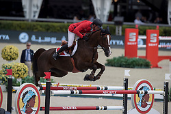 Duguet Romain, SUI, Quorida de Treho<br /> Furusiyya FEI Nations Cup Jumping Final - Barcelona 2016<br /> © Hippo Foto - Dirk Caremans<br /> 22/09/16