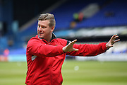 MK Dons manager Karl Robinson  during the Sky Bet Championship match between Ipswich Town and Milton Keynes Dons at Portman Road, Ipswich, England on 30 April 2016. Photo by Simon Davies.