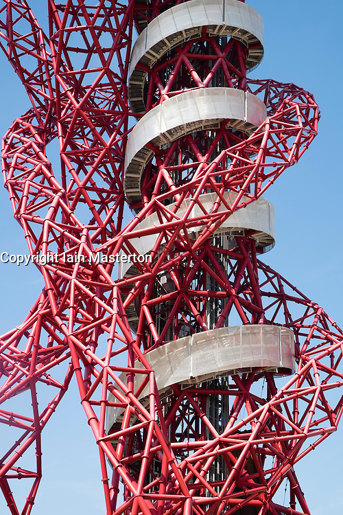 Orbit sculpture by Anish Kapoor's at Queen Elizabeth Olympic Park in Stratford London United Kingdom