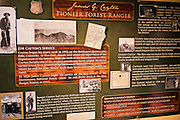 Pioneer forest rangerdisplay in the Rico Museum, Rico, Colorado