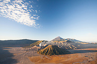 Mount Bromo at sunrise on the island of Java.