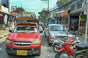 Busy road at Chaweng, Koh Samui, Thailand
