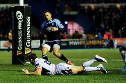 Mark Bennett of Edinburgh Rugby scores his sides first try of the game - Mandatory by-line: Ryan Hiscott/JMP - 05/10/2019 - RUGBY - Cardiff Arms Park - Cardiff, Wales - Cardiff Blues v Edinburgh Rugby - Guinness Pro 14