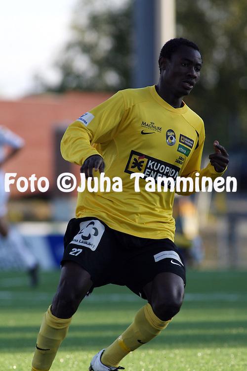 26.09.2009, Magnum Areena, Kuopio, Finland..Veikkausliiga 2009 - Finnish League 2009.Kuopion Palloseura - FC Honka.Segun Ikudehinbu - KuPS.©Juha Tamminen...