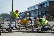 Foto: Gerrit de Heus. Vlaardingen. 11-04-2016. Werkzaamheden Pijnacker Infra