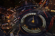 Night view of Columbus Circle from 25 Columbus Circle #54C