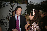 George Osborne and Kimberley Quinn, BOOK PARTY FOR TABATHA'S CODE BY MATTHEW D'ANCONA. Spectator. Doughty St. London. 11 May 2006. ONE TIME USE ONLY - DO NOT ARCHIVE  © Copyright Photograph by Dafydd Jones 66 Stockwell Park Rd. London SW9 0DA Tel 020 7733 0108 www.dafjones.com