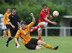 Joe Bryan of Bristol City takes a shot on goal - Photo mandatory by-line: Dougie Allward/JMP - Mobile: 07966 386802 - 05/07/2015 - SPORT - Football - Bristol - Brislington Stadium - Pre-Season Friendly
