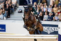 PIMENTA ALVES Luiz Felipe (BRA), GB Celine<br /> Göteborg - Gothenburg Horse Show 2019 <br /> Gothenburg Trophy presented by VOLVO<br /> Int. jumping competition with jump-off (1.55 m)<br /> Longines FEI Jumping World Cup™ Final and FEI Dressage World Cup™ Final<br /> 06. April 2019<br /> © www.sportfotos-lafrentz.de/Stefan Lafrentz