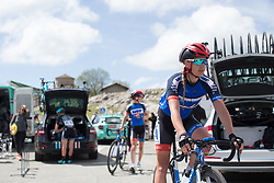 Elise Maes (LUX) of Team WNT rides to the team car after finishing Stage 4 the Emakumeen Bira - a 58 km road race, between Etxarri Aranatz and San Miguel on May 20, 2017, in Basque Country, Spain. (Photo by Balint Hamvas/Velofocus)
