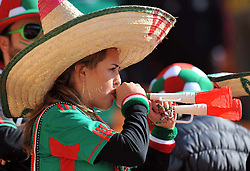 JOHANNESBURG, SOUTH AFRICA - Friday, June 11, 2010: A Mexico supporter during the opening Group A match against South Africa during the 2010 FIFA World Cup South Africa at the Soccer City Stadium. (Pic by Hoch Zwei/Propaganda)