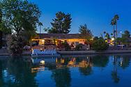 Mesa, Arizona Dobson Ranch lakefront twilight real estate photographer