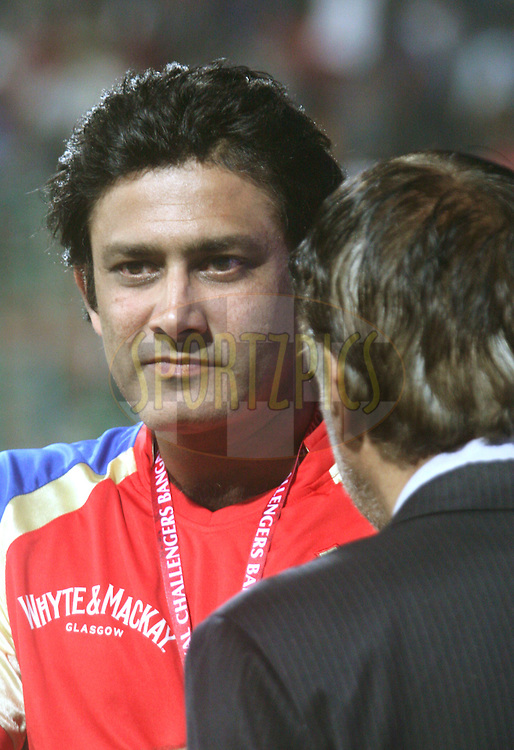 Anil Kumble (RCB coach) after the match 8 of the the Indian Premier League ( IPL ) Season 4 between the Royal Challengers Bangalore and the Mumbai Indians held at the Chinnaswamy Stadium, Bangalore, Karnataka, India on the 12th April 2011..Photo by Vino John/BCCI/SPORTZPICS