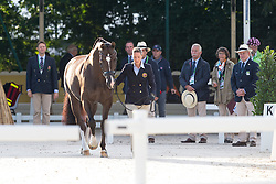 Charlotte Dujardin, (GBR), Valegro - Horse Inspection Dressage - Alltech FEI World Equestrian Games™ 2014 - Normandy, France.<br /> © Hippo Foto Team - Leanjo de Koster<br /> 25/06/14