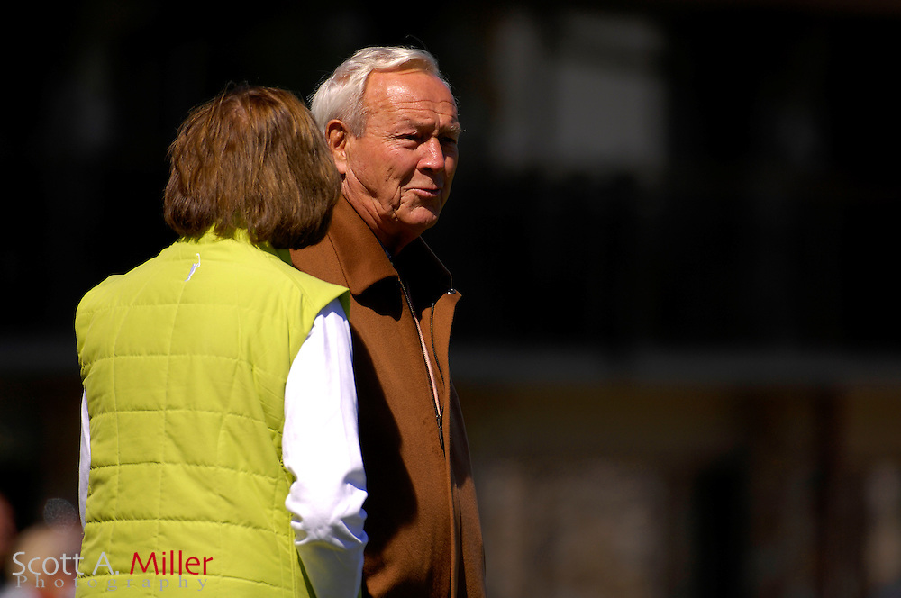 Arnold Palmer and his wife Kit during the Arnold Palmer Invitational at Bay Hill Club and Lodge on March 17, 2007 in Orlando, Florida...© 2007 Scott A. Miller