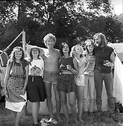 Mrs Jones, Nick, and the Goose Hall crew, Glastonbury, Somerset, 1989