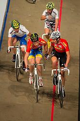 06-01-2012 WIELRENNEN: RABOBANK ZESDAAGSE: ROTTERDAM<br /> (vooraan L-R) Jens Mouris, Franco Marvulli SUI, (achteraan L-R) Leon van Bon, Leif Lampater GER<br /> (c)2012-FotoHoogendoorn.nl / Peter Schalk