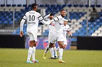JOIE DE Denys BAIN - 24.01.2015 - Clermont / Chateauroux  - 21eme journee de Ligue2<br /> Photo : Jean Paul Thomas / Icon Sport *** Local Caption ***
