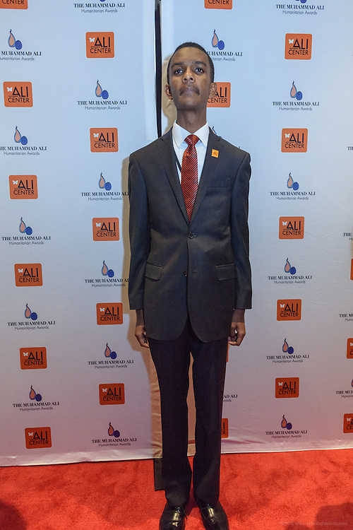Edmund on the red carpet at the fourth annual Muhammad Ali Humanitarian Awards Saturday, Sept. 17, 2016 at the Marriott Hotel in Louisville, Ky. (Photo by Brian Bohannon for the Muhammad Ali Center)
