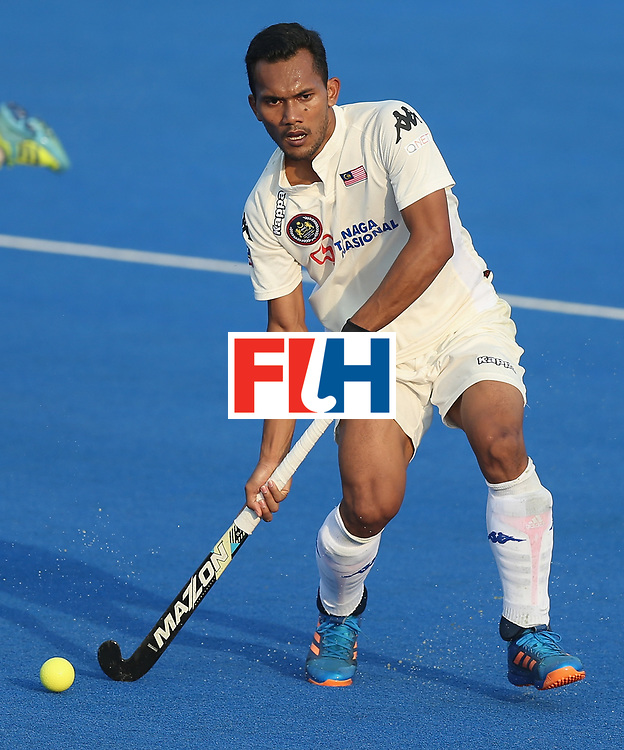 LONDON, ENGLAND - JUNE 19:  Marhan Jalil of Malaysia during the Pool A match between South Korea and Malaysia on day five of Hero Hockey World League Semi-Final at Lee Valley Hockey and Tennis Centre on June 19, 2017 in London, England.  (Photo by Alex Morton/Getty Images)