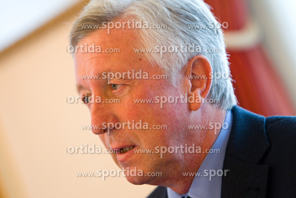 Uros Slavinec, president of KK Helios Domzale during press conference of basketball team KK Helios Domzale before new season 2010-2011, on September 27, 2010 in Domzale, Slovenia. (Photo By Vid Ponikvar / Sportida.com)