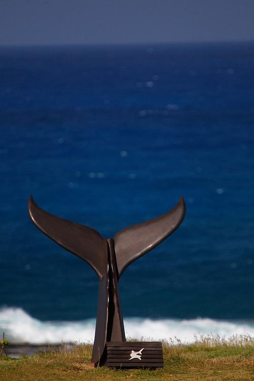 Fernando de Noronha_PE, Brasil.<br /> <br /> Imagens do Parque Nacional Marinho de Fernando de Noronha. Na foto escultura na parte externa do Museu dos Tubaroes.<br /> <br /> Fernando de Noronha Marine National Park in Pernambuco. In this photo esculpture in Tubaroes museum.<br /> <br /> Foto: JOAO MARCOS ROSA / NITRO