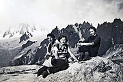 1935 Alps Chamonix near Couvercle and mountain La Tour Ronde