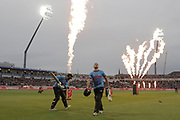 Sussex's Phil Salt & Sussex's Luke wright go out to bat during the final of the Vitality T20 Finals Day 2018 match between Worcestershire rapids and Sussex Sharks at Edgbaston, Birmingham, United Kingdom on 15 September 2018.