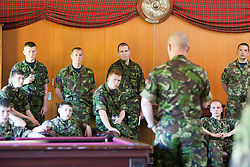 In the sergeants mess..Exercise Guards Warrior with the Scots Guards at their Catterick base..Pic ©2010 Michael Schofield. All Rights Reserved.