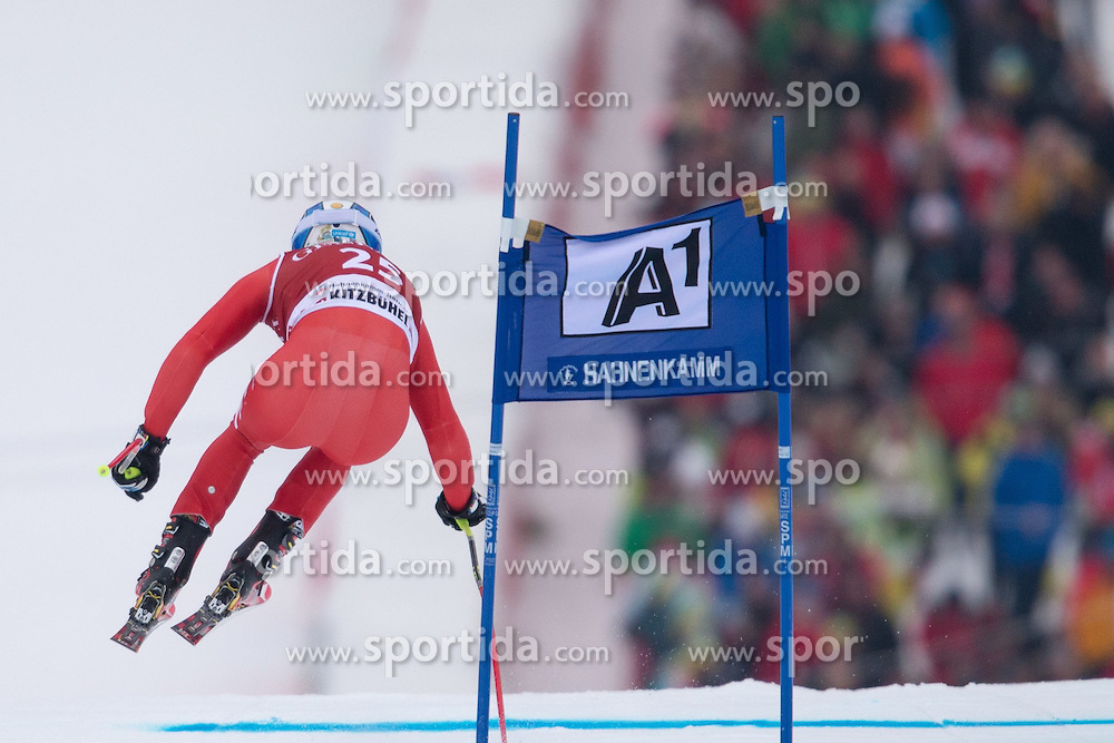 23.01.2015, Streif, Kitzbuehel, AUT, FIS Ski Weltcup, Supercombi Super G, Herren, im Bild Werner Heel (ITA) // Werner Heel of Italy in action during the men's Super Combined Super-G of Kitzbuehel FIS Ski Alpine World Cup at the Streif Course in Kitzbuehel, Austria on 2015/01/23. EXPA Pictures © 2015, PhotoCredit: EXPA/ Johann Groder