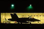 F/A-18 Hornet in Hangar