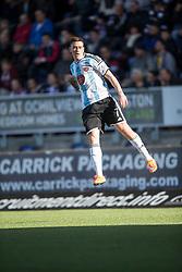 Hearts Jamie Walker celebrates after scoring their goal.<br /> Half time ; Falkirk 0 v 1 Hearts, Scottish Championship game played 21/3/2015 at The Falkirk Stadium.