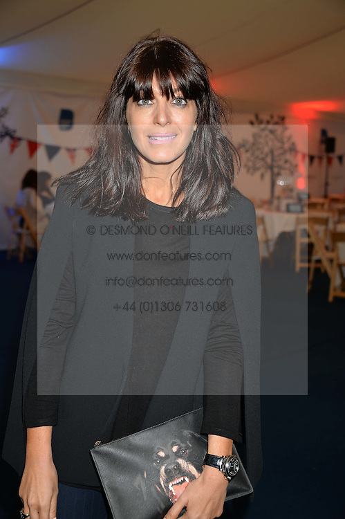 CLAUDIA WINKLEMAN at the World's Greatest Quiz Night in aid of the Quintessentially Foundation and Dimbleby Cancer Care held at the Riverside Parliament Panorama marquee at St Thomas' Hospital, Westminster Bridge Road, Londonon 15th September 2015.