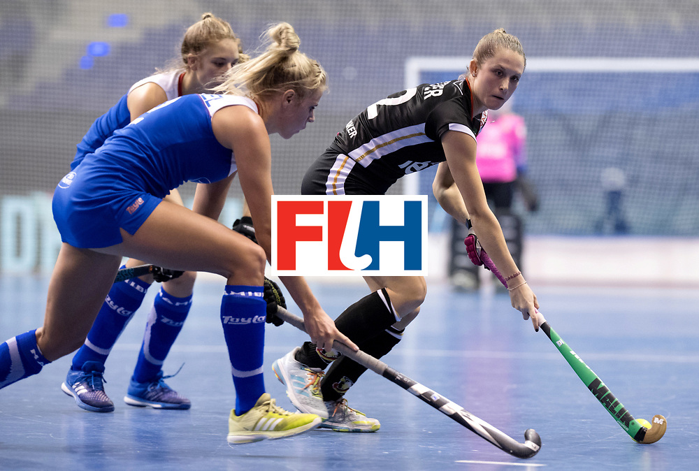 BERLIN - Indoor Hockey World Cup<br /> Women: Germany - Namibia<br /> foto: Cecile Pieper.<br /> WORLDSPORTPICS COPYRIGHT FRANK UIJLENBROEK
