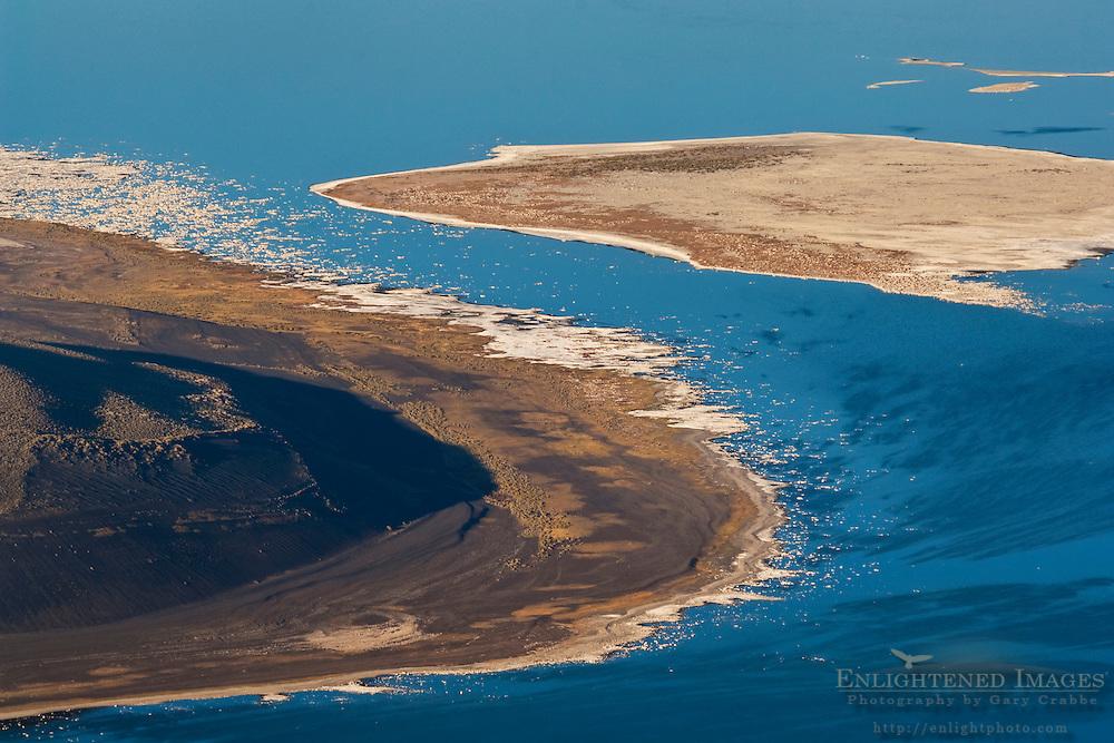 Detail overlooking the alkaline shoreline of Mono Lake; Mono County; California