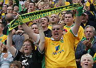 Coventry - Saturday August 9th, 2008: The fans of Norwich City at the first match of the season against Coventry City during the Coca Cola Championship match at The Ricoh Arena, Coventry. (Pic by Michael Sedgwick/Focus Images)